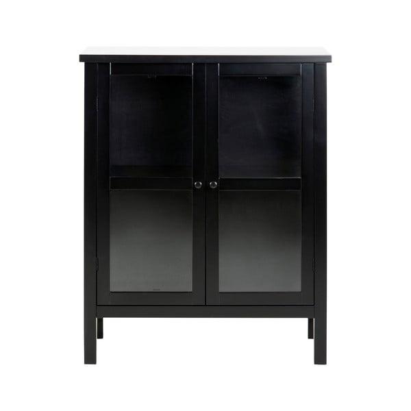 Čierna 2-dverová vitrína Actona Eton, výška 99,5 cm