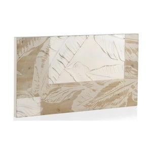 Bílé dřevěné čelo postele Geese Naturall, 110x60cm