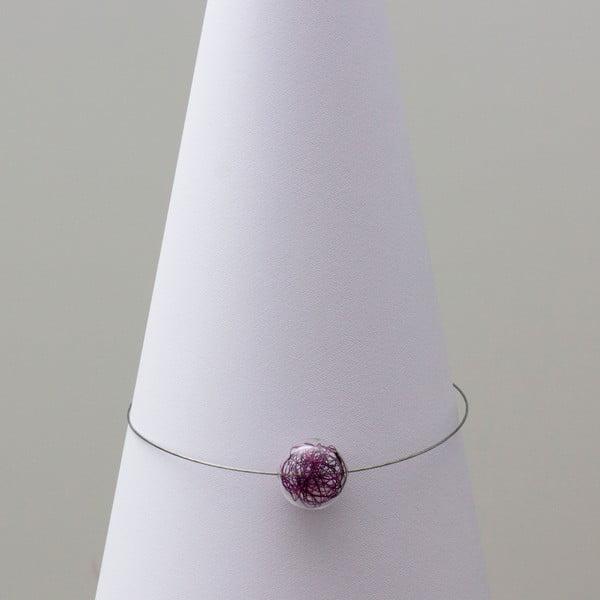 Skleněný náhrdelník ko-ra-le Wired, fialový
