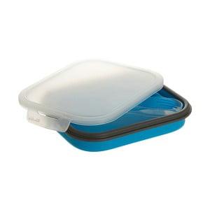 Set modrého obědového boxu a příborů Premier Housewares, 19 x 26 cm