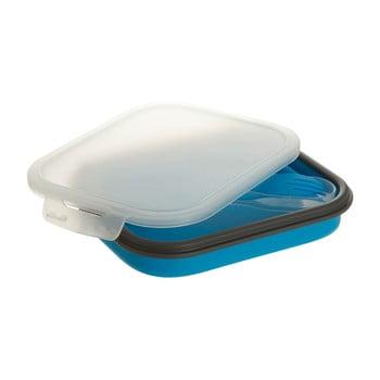 Set cutie pentru prânz și tacâmuri Premier Housewares, 19 x 26 cm, albastru imagine