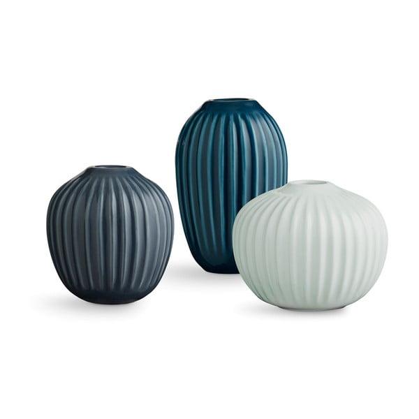 Set 3 vaze din gresie Kähler Design Hammershoi Miniature Cold Palette