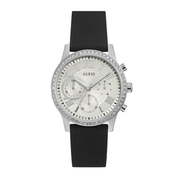 Zegarek damski z czarnym silikonowym paskiem Guess W1135L5