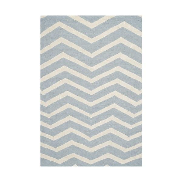 Světle modrý koberec Safavieh Edie, 182 x 121 cm