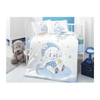 Lenjerie de pat din bumbac pentru copii Night Bear 100 x 150 cm