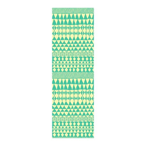 Koberec z vinylu Etnico Crema Turquesa, 80x250 cm
