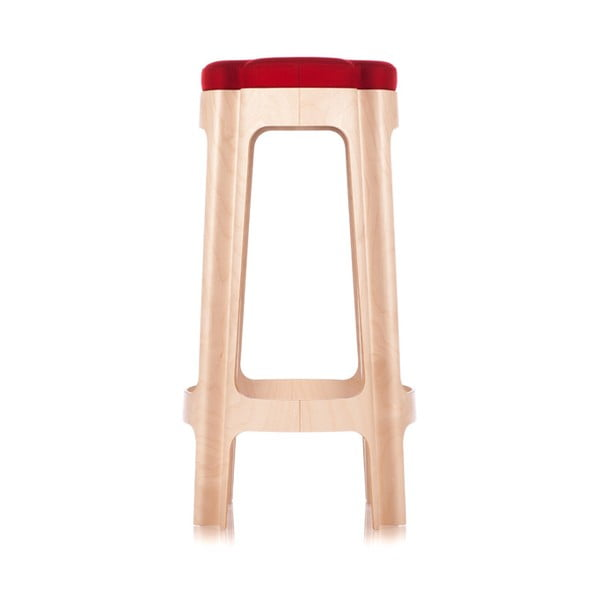 Barová židle Bloom 82 cm, s červeným sedátkem