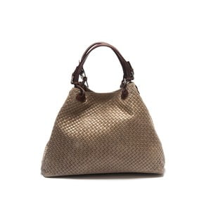 Krémová kožená kabelka Isabella Rhea Eva