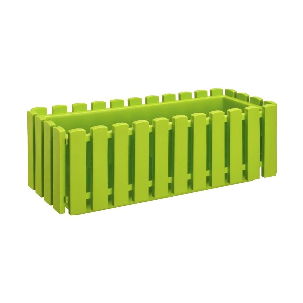Hráškově zelený samozavlažovací truhlík Gardenico Fency Smart System, délka 50 cm