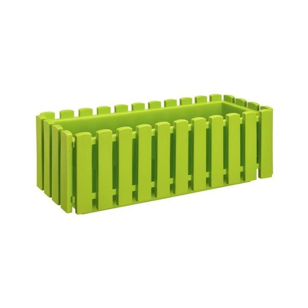 Hráškově zelený samozavlažovací truhlík Gardenico Fency Smart System, délka 50cm