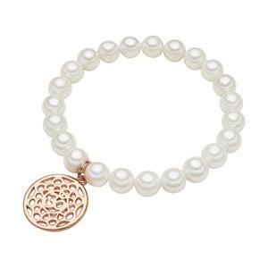 Náramek s bílou perlou Perldesse Mia,⌀0,8xdélka18cm