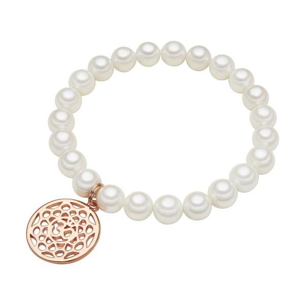 Náramek s bílou perlou ⌀8 mm Perldesse Mia, délka18cm