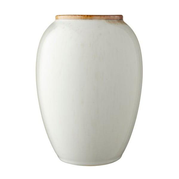 Vază din ceramică Bitz Basics Cream, înălțime 20 cm, crem