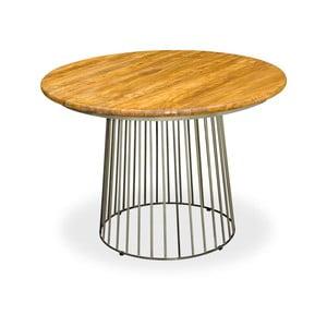 Jídelní stůl z oceli a mangového dřeva Bluebone Bistro