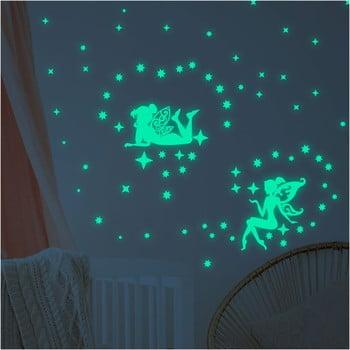 Set autocolante fosforescente de perete Ambiance The Dark Big Fairies de la Ambiance