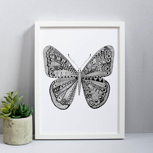 Plakát Karin Åkesson Design Butterfly Black, 30x40 cm