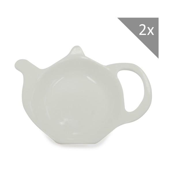 Sada dvou talířků na čajové sáčky, Cashmere