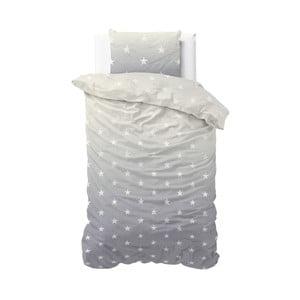 Šedé povlečení Sleeptime Twinkle Stars, 140 x 220 cm