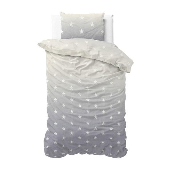 Lenjerie din bumbac, pat de o persoană Sleeptime Twinkle Stars, 140 x 220 cm, gri