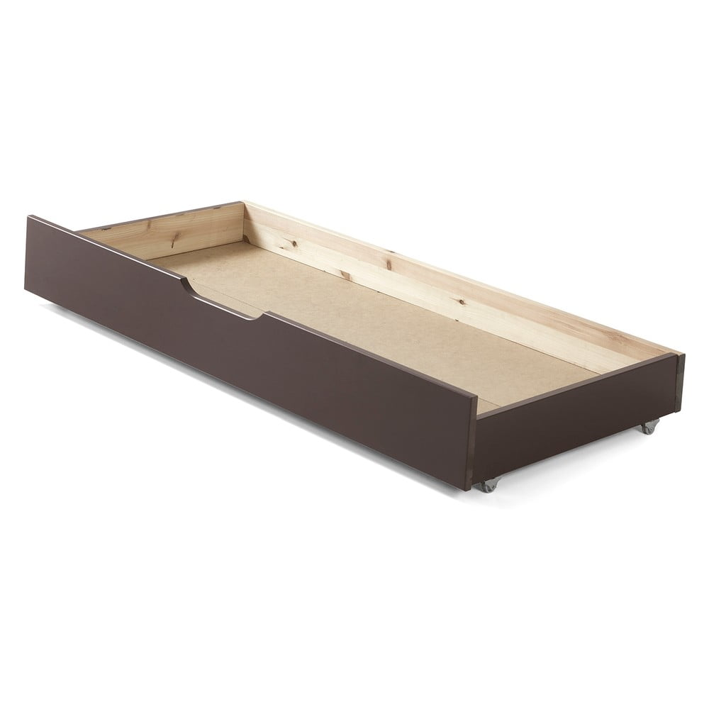 Hnědý úložný systém pod postel Jumper Vipack, šířka 130 cm