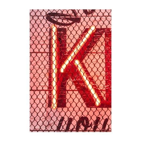Nástěnná neonová dekorce Kare Design Kiss