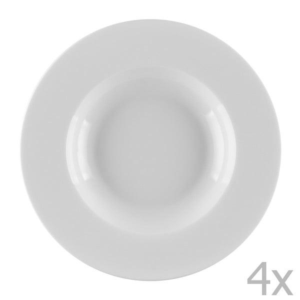 Sada 4 porcelánových polévkových talířů Sola Lunasol, 22cm