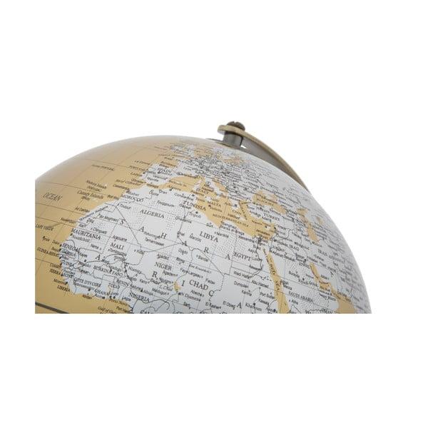 Decorațiune pentru masă Mauro Ferretti Globe, înălțime28cm, auriu-argintiu