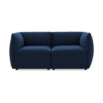 Canapea cu două locuri Vivonita Cube, albastru închis de la Vivonita