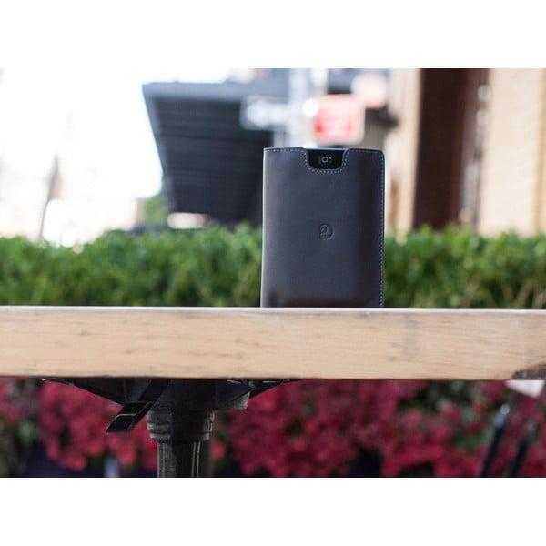 Danny P. kožená peněženka Pocket s kapsou na iPhone 5S Black