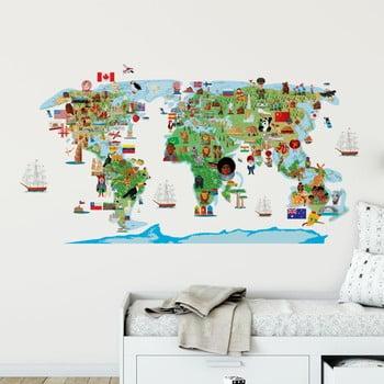 Autocolant de perete Ambiance World Map Discovery de la Ambiance
