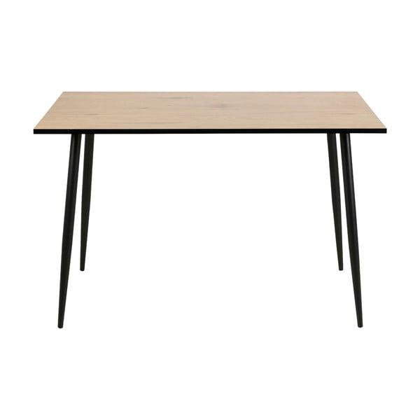Čierno-hnedý jedálenský stôl Actona Wilma, 120×80 cm