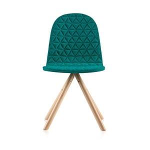 Tyrkysová židle s přírodními nohami IKERMannequinTriagle