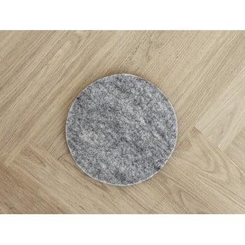 Suport din lână pentru pahar/veselă Wooldot Felt Coaster, ⌀ 40 cm, gri oțel