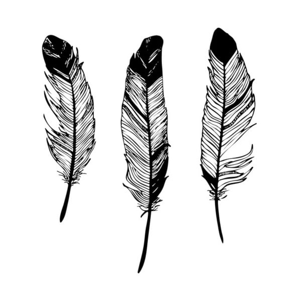 Plakát Nord & Co Feathers, 21 x 29 cm
