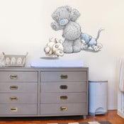 Dekorativní samolepka na zeď Medvídek, kočička a pejsek