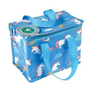 Modrá svačinová taška s motivem jednorožců Rex London Magical Unicorn