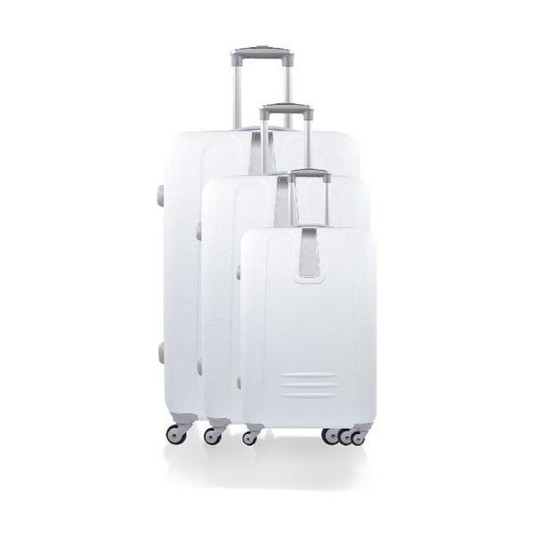 Set 3 cestovních kufrů Hero White