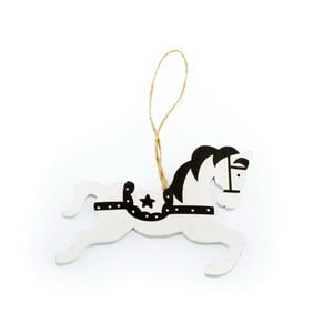 Dřevěný závěsný houpací koník Dakls Dancy, 11 cm