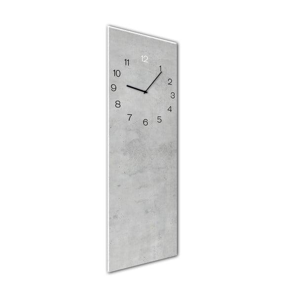 Ceas de perete Styler Glassclock Concrete, 20 x 60 cm