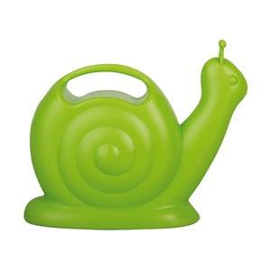 Zelená plastová konvička ve tvaru šneka Ego Dekor