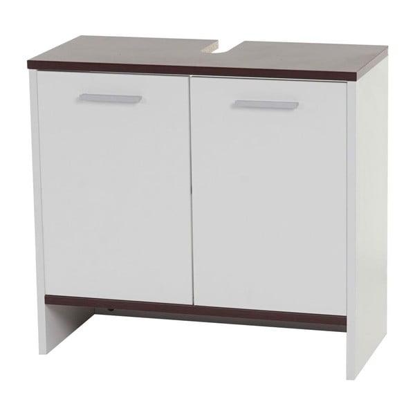 Koupelnová skříňka Sonoma White/Brown, 28x60x56 cm