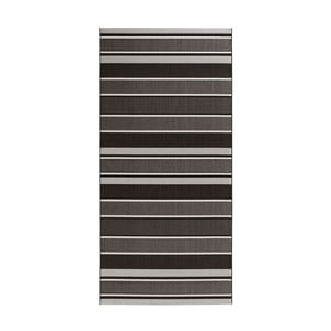 Covor exterior Hanse Home Strap, 80 x 150 cm, negru - gri