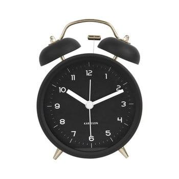 Ceas alarmă Karlsson Classic, negru, ⌀ 10 cm imagine