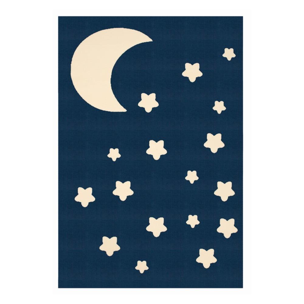 Dětský tmavě modrý koberec Zala Living Night Sky, 140 x 200 cm