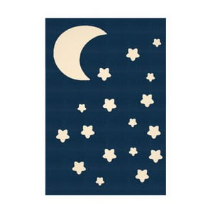 Dětský tmavě modrý koberec Zala Living  Night Sky, 140x200cm