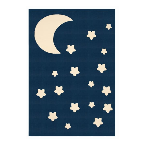Detský tmavomodrý koberec Zala Living Night Sky, 140×200cm