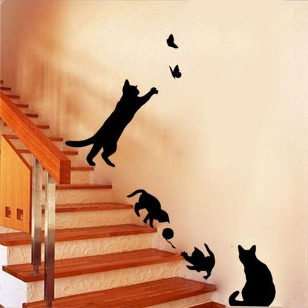 Cat Play dekoratív falmatrica