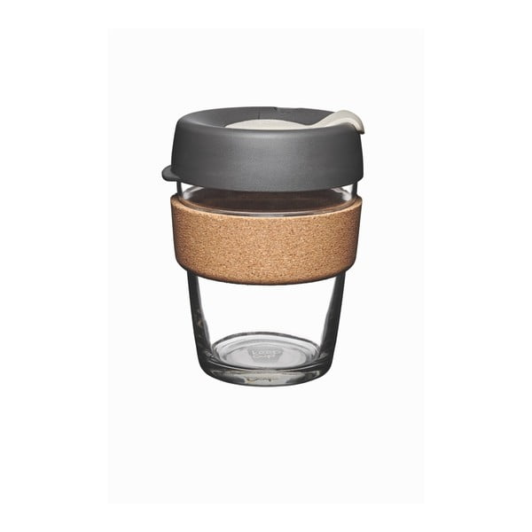 Pahar de voiaj cu capac KeepCup Brew Cork Edition Press, 340 ml