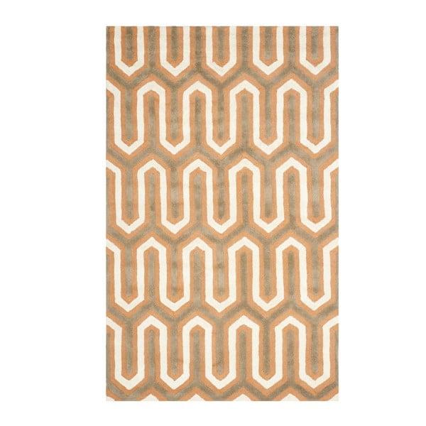 Oranžový vlněný koberec Safavieh Leta, 121x182cm