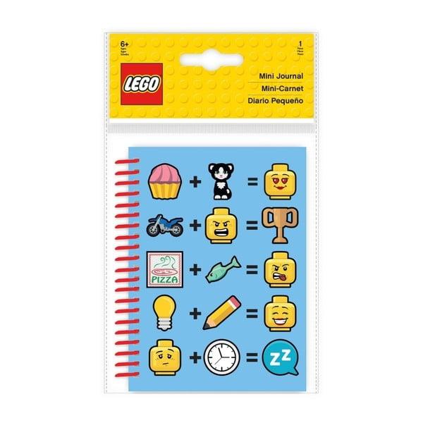 Modrý zápisník A5 LEGO® Iconic, 100stran